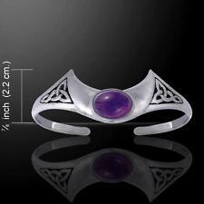 Celtic Knot Trinity Crescent Moon .925 Sterling Silver Bracelet Peter Stone