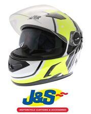 Lazer Bayamo Race Spirit Motorcycle Helmet White Yellow Sun Visor Motorbike J&S