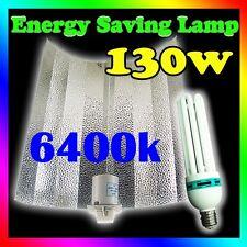 130W 6400k energy saving CFL grow light kit Bat Wing Reflector Hydroponics