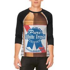 Halloween Pure White Trash Beer Costume Mens Raglan T Shirt