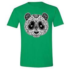 PANDA Sugar Skull SHIRT Day of the Dead Dia Los muertos Mexico T-SHIRT tee Green