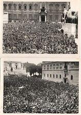 ROMA FASCISMO BERSAGLIERI COPPIA DI FOTOGRAFIE ORIGINALI