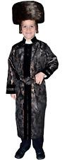Dress Up America Noir rabbin manteau pour enfants-garçons pretendplay Costume