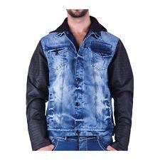 Cipo Baxx C44606 Detachable-Hood Blue Denim Jacket