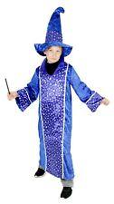 Zauberer Merlin Kostüm für Kinder Karneval Fasching Party blau Gr. 110 - 152