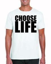 choose life t shirt Wham George michael White T-Shirt Retro 80s t shirts