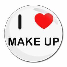 I Love Make Up-tondo Specchio in vetro compatta 55mm/77mm badgebeast