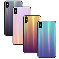 Samsung Galaxy A40 Rainbow Aus Glas Regenbogen Case Etui Ombre HandyTasche Hülle