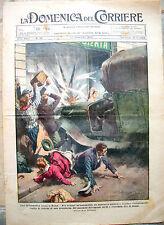 1925 INCIDENTE A ROMA: CAMION IN GIOIELLERIA DOMENICA DEL CORRIERE