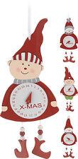 Cuenta regresiva para navidad Colgante De Pared Calendario de Adviento de madera Reloj Calendario de Adviento