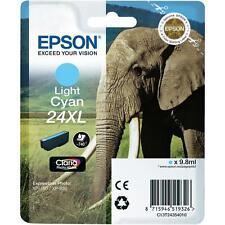 CARTOUCHE EPSON LIGHT CYAN 24xl / elephant t24 expression photo t2435 xp-850 750