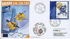 "V185LT1 FDC KOUROU ""ARIANE 5 ECA Rocket - Flight 185 / Superbird & AMC-21"" 2008"