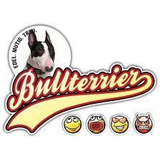 Auto Aufkleber BULLTERRIER 2 OLD SCHOOL SIVIWONDER Sticker EMOJI Bull Terrier