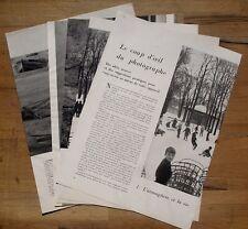 Article Idées et suggestions pour le photographe ,1956 , clipping