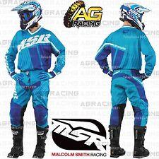MSR 2017 Axxis Cyan White Blue Jersey & Pants Combo Kit Motocross Enduro Quad