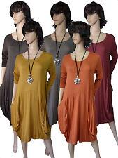 EG 44 46 48  Legeres Kleid Shirt-Kleid Jersey-Kleid Farbauswahl ITALIEN