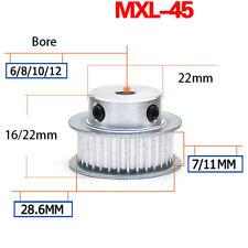 MXL Timing Belt Pulley 45 Teeth BF-type for 6mm 10mm Belt Reprap 3D Printer CNC
