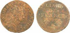 Louis XIV, liard de France au buste juvénile, 2e type, 1656 Limoges -167