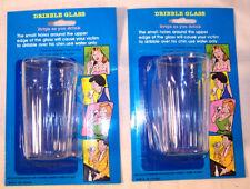 6 JOKE DRIBBLE GLASSES gag party favor drinking bar