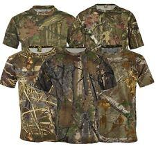 Mens Jungle Print Camouflage Army Combat Short Sleeve T Shirt Fishing Hunt S-5XL