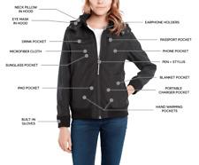 New BAUBAX Women's Black Bomber Jacket- Choice of Size