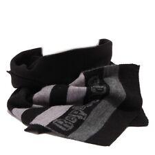 3753T sciarpa bimbo REPLAY & SONS WITHOUT LABEL grey/black scarf boy kid