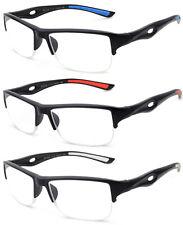 Reading Glasses Men Classic Half Rimmed Sporty Look Reader Quality Rectangular