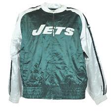 NFL Reebok Satin New York Jets Jacket Zipper Jersey Sweater Women Ladies
