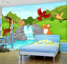 3D Fox Deer Bird Forest 6474 Wall Paper Wall Print Decal Wall AJ WALLPAPER CA