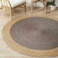 Natural Jute Rugs Handmade Floors Natural Round Feet Area Carpet Modern Rug