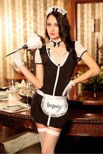 Tenue Soubrette Maid Servante Dévouée 7 pcs T Costume