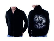Veste Sweat-Shirt noir Indien Nature & flackenmotiv modèle Indian Hawk