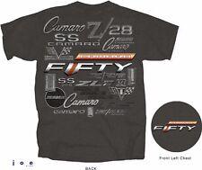 Chevy Camaro 50th Anniversary Logos Men's T-Shirt~RS SS Z/28 IROC ZL1 396 427