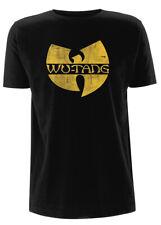 Wu-Tang Clan 'Distressed Logo' T-SHIRT - NUOVO E ORIGINALE