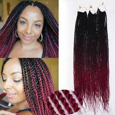 """24"""" 20Strands Brown Senegalese Twist Braid Hair Natural Crotchet Braiding Hair"""