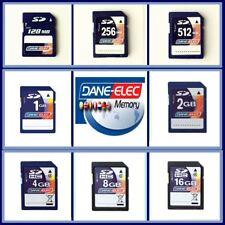 Dane-Elec 128MB 256MB 512MB 1GB 2GB 4GB 8GB 16GB SD Memory Card with Case