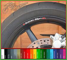 8 x SUZUKI SV R Wheel Rim Stickers Decals - sv1000 sv400 sv650 sv1000s sv650s