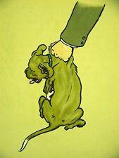 Cecil Aldin 1914 PUPPY GETTING SPANKING Dog Art Matted