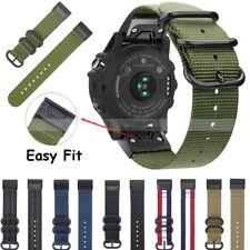 Quick Release Nylon Loop Watch Band Strap for Garmin Fenix 5 5X 5S Plus Instinct