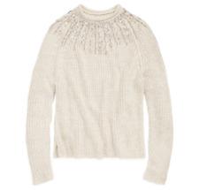 $498 Polo Ralph Lauren Womens Beaded Metallic Rollneck Wool Knit Sweater NWT
