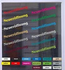 Neueröffnung Schaufensterbeschriftung Aufkleber Werbung Auto Laden