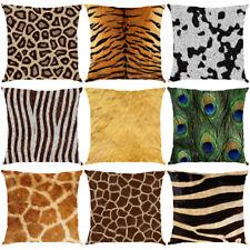 Animal Fur Leopard Tiger Peacock Pillowcase Throw Cushion Cover  Waist Decor
