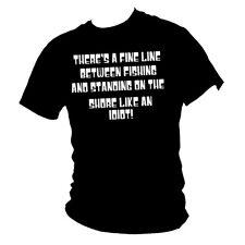 Anglers law - FINE LINE -Humorous &  funny fishing t-shirt
