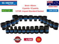 "KING TONY 1/2""DR.8-46mm 6 points molybdenum alloy steel Impact Standard Socket"
