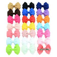 Lot 20pcs Girl Double-deck Bow DIY Bobby Pin Hair Pin Hair Accessories 2.6''