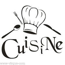 Sticker Cuisine 15x18cm à 30x34cm, Tailles et Coloris Divers (CUISINE002)