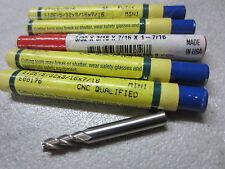 """DOALL QUINCO 5/32"""" x 3/16"""" Shank 4-Flutes Center Cut Mini End Mill endmill USA"""