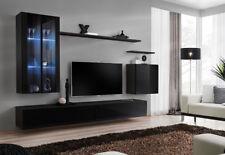 Shift 12 - black entertainment center / entertainment wall unit / Tv stand
