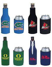 College Cooler NCAA Bottle & Can Beer Soda Drink Holder- 2 Pack