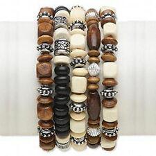 New Wholesale Lot Boxwood Bracelets Mix Jewelry 5 pcs